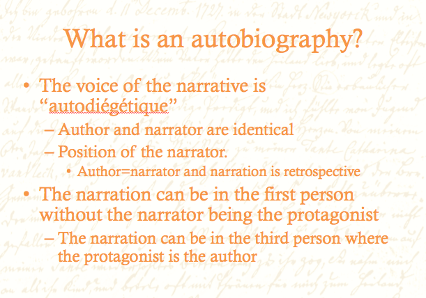 what is an autobiography